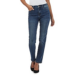 RJR.John Rocha - Blue 'Brooke' high-waisted slim leg jeans