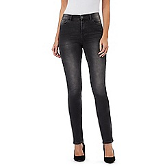 RJR.John Rocha - Dark grey 'Brooke' high-waisted slim leg jeans