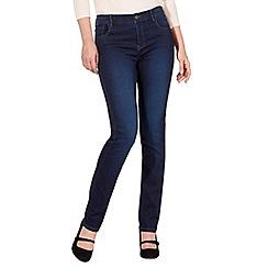 RJR.John Rocha - Dark blue 'Elsa' mid-rise straight jeans