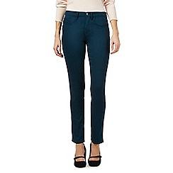 RJR.John Rocha - Rocha Elsa dark turquoise mid rise straight jeans