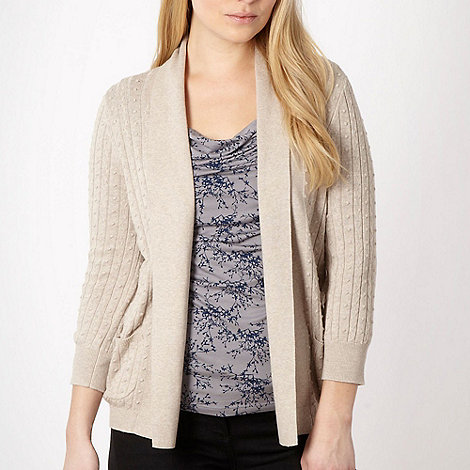 RJR.John Rocha - Natural bobble effect edge to edge cardigan