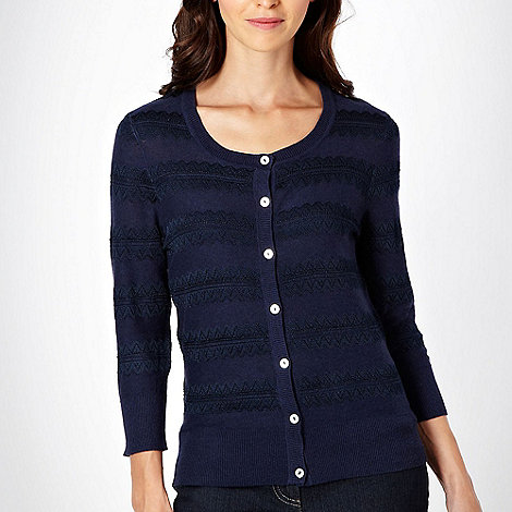 RJR.John Rocha - Navy lace striped cardigan