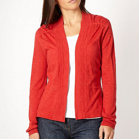 RJR.John Rocha - Red open front knitted cardigan