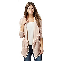 RJR.John Rocha - Pink textured layered cardigan