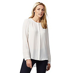 RJR.John Rocha - Ivory scalloped neck blouse