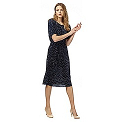 RJR.John Rocha - Navy printed plisse dress