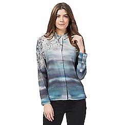 RJR.John Rocha - Grey blossom print shirt