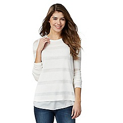 RJR.John Rocha - White sheer striped top