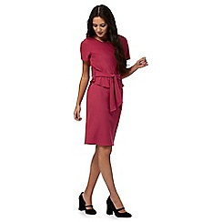 RJR.John Rocha - Dark pink shift overlay dress