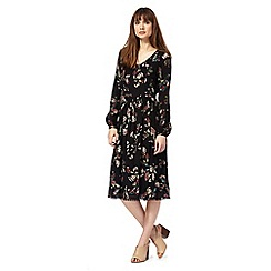 RJR.John Rocha - Black floral print midi dress