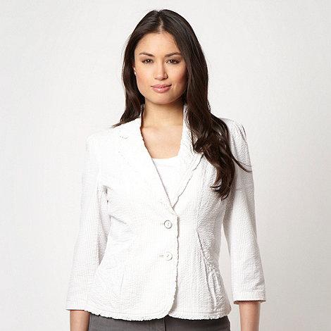 Rocha.John Rocha - Designer natural striped blazer