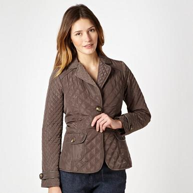 Taupe quilted jacket
