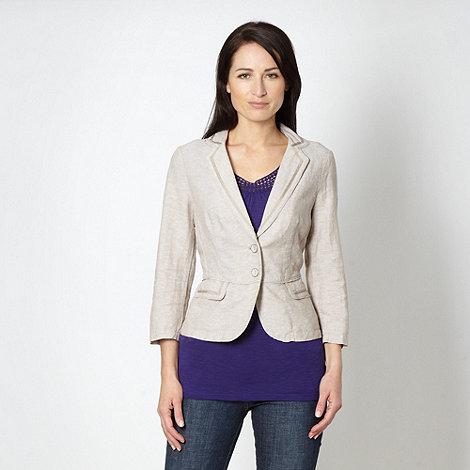 RJR.John Rocha - Designer natural linen blend blazer