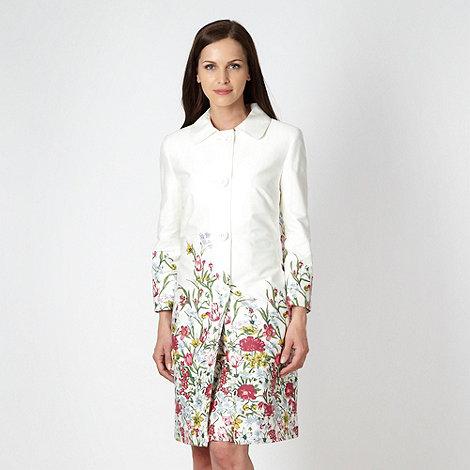 RJR.John Rocha - Designer white floral printed mac coat