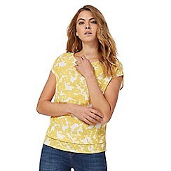RJR.John Rocha - Yellow short sleeves floral print top