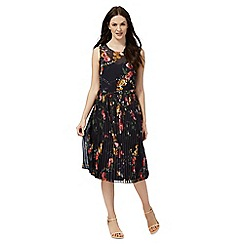 RJR.John Rocha - Navy floral print pleated dress