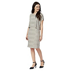 RJR.John Rocha - Grey plisse layered dress