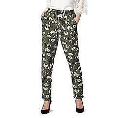 RJR.John Rocha - Khaki floral print trousers