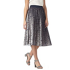 RJR.John Rocha - Navy pleated skirt