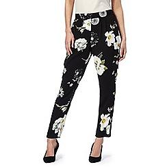RJR.John Rocha - Black daisy print trousers