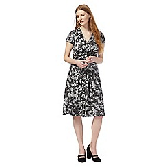 RJR.John Rocha - Black texture floral print dress