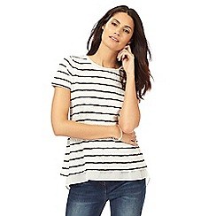 RJR.John Rocha - Ivory striped top