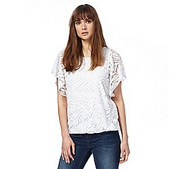 RJR.John Rocha - White burnout bubble hem top