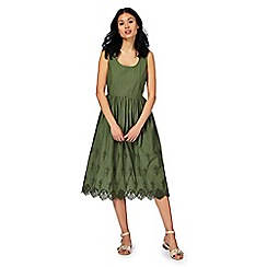 RJR.John Rocha - Green broderie anglaise tea dress