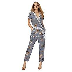 RJR.John Rocha - Grey fern print wrap jumpsuit