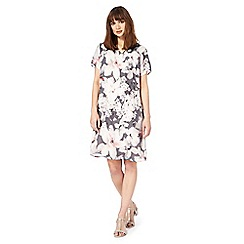 RJR.John Rocha - Grey and pink floral print dress