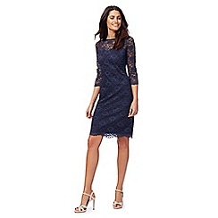 RJR.John Rocha - Navy floral lace dress
