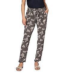 RJR.John Rocha - Khaki palm print trousers