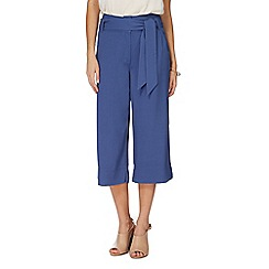 RJR.John Rocha - Blue textured wide leg cropped trousers