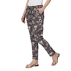 RJR.John Rocha - Grey palm print pocket trousers