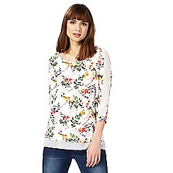 RJR.John Rocha - Multi-coloured floral print mock layered top