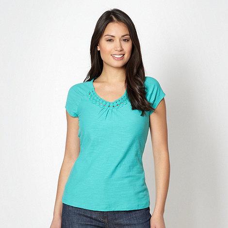 RJR.John Rocha - Designer turquoise circle trim t-shirt
