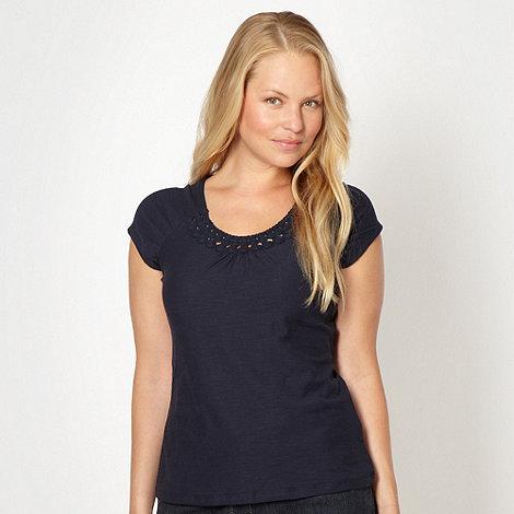 RJR.John Rocha - Designer navy circle trim t-shirt