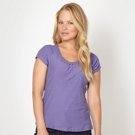 RJR.John Rocha - Designer purple circle trim t-shirt