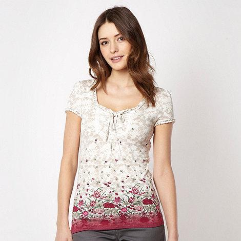 RJR.John Rocha - Designer pink floral border t-shirt