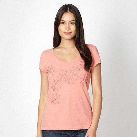 RJR.John Rocha - Designer mid rose beaded flower t-shirt