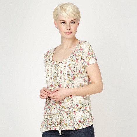 RJR.John Rocha - Designer cream burnout floral jersey top