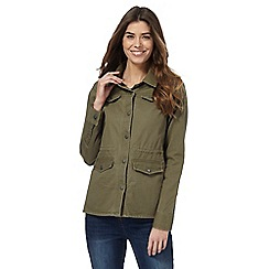 RJR.John Rocha - Khaki embroidered utility jacket