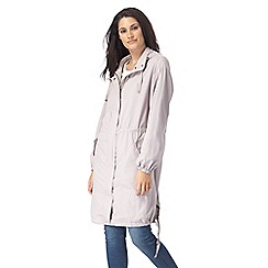 RJR.John Rocha - Light grey shower resistant longline coat