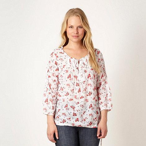 RJR.John Rocha - Designer white floral gypsy top