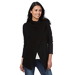 RJR.John Rocha - Black ribbed wrap over cardigan