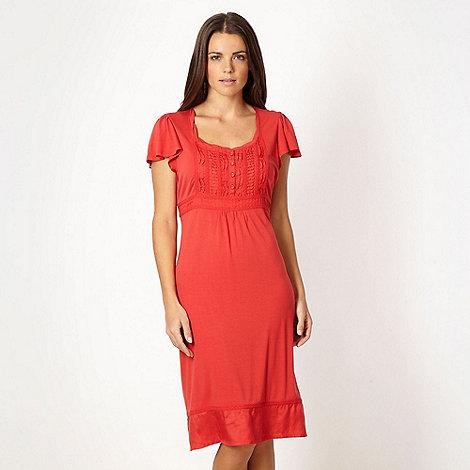 RJR.John Rocha - Red pintuck jersey dress