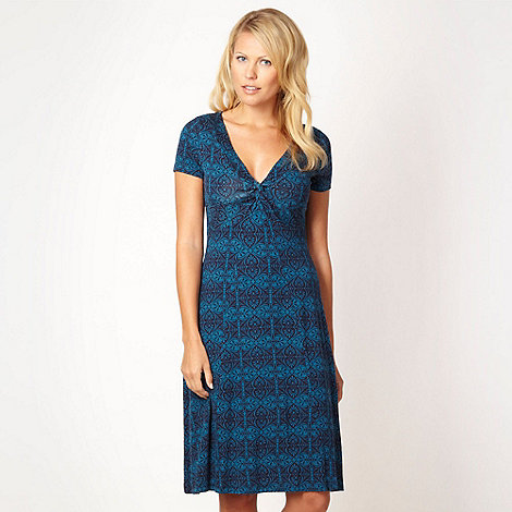 RJR.John Rocha - Blue printed jersey dress