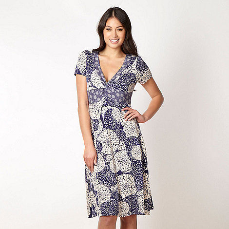 RJR.John Rocha - Designer navy floral circle jersey dress
