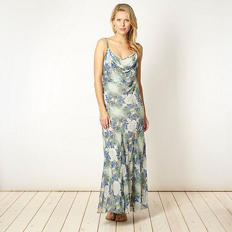 RJR.John Rocha - Designer aqua floral maxi dress