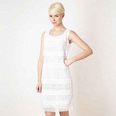 Rocha.John Rocha - Designer white lace shift dress